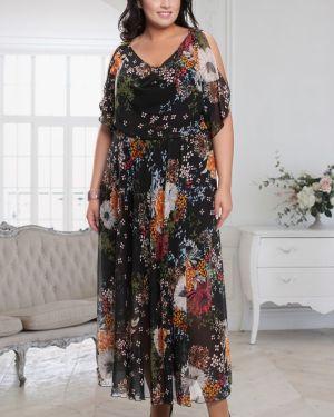 Летнее платье футляр с декольте прима линия