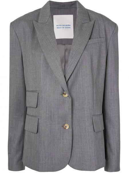 Шерстяной пиджак оверсайз с карманами на пуговицах Walk Of Shame