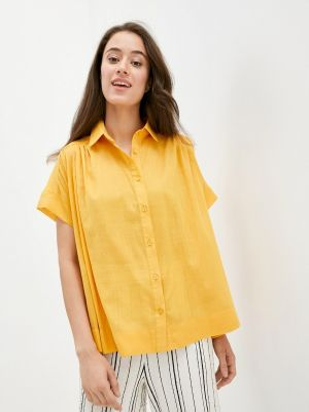 Рубашка с коротким рукавом желтый Gabriela
