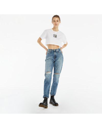 Jeansy do kostek Calvin Klein Jeans