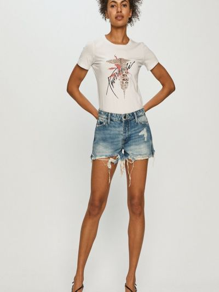Джинсовая футболка Trussardi Jeans