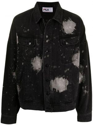 Хлопковая джинсовая куртка - черная Fila