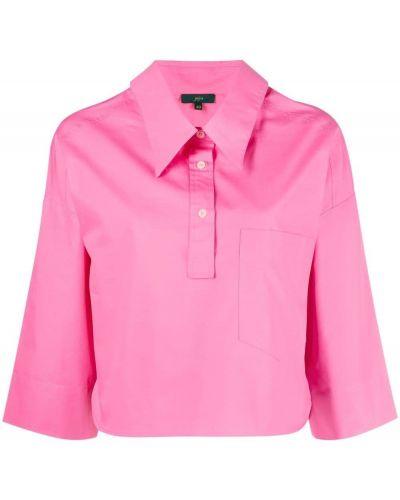 Розовая хлопковая рубашка с воротником Jejia