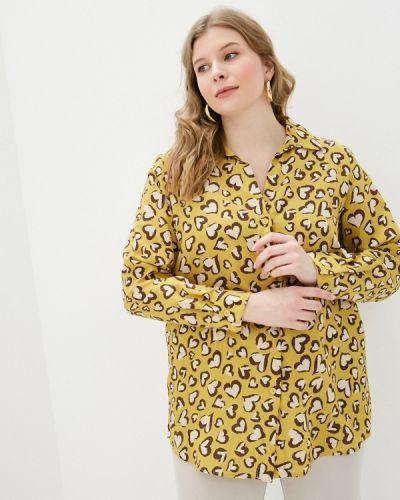 Желтая с рукавами блузка Svesta