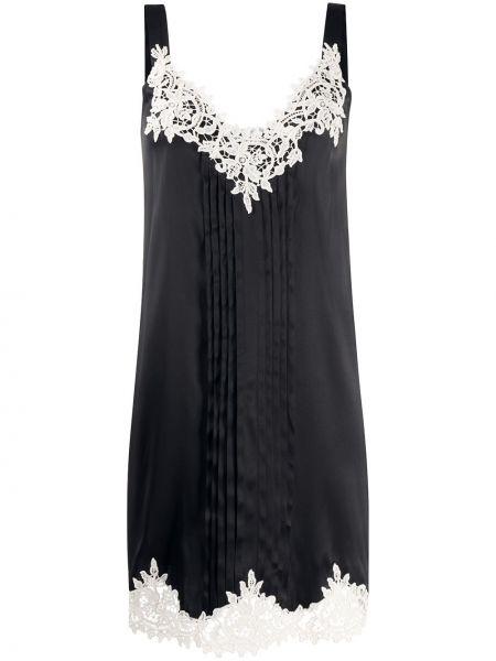 Шелковое платье - черное Blumarine