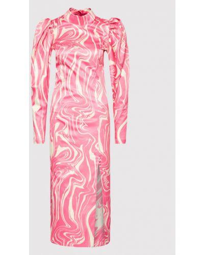 Różowa sukienka koktajlowa Rotate