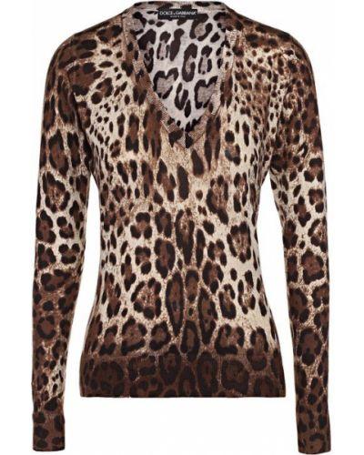 Свитер с глубоким вырезом с V-образным вырезом облегающий Dolce & Gabbana