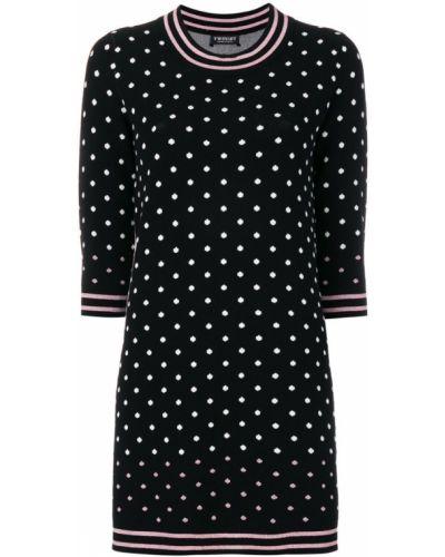 Платье с длинными рукавами прямое свитер Twin-set