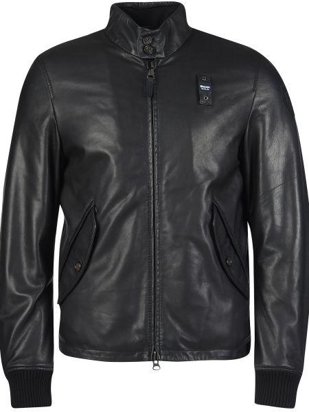 Кожаная куртка из полиэстера - черная Blauer