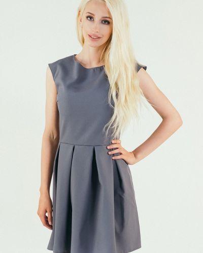 Повседневное платье весеннее серое Подіум