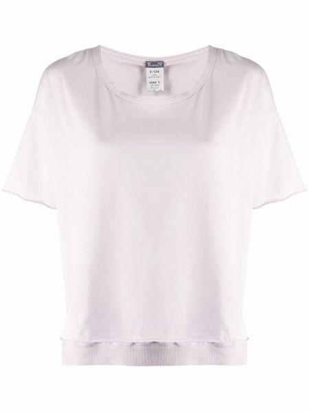 Фиолетовая хлопковая футболка с короткими рукавами Kristensen Du Nord