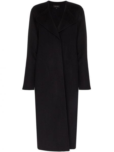 Шерстяное черное пальто классическое с капюшоном Low Classic