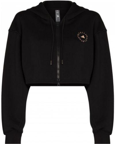 Худи на молнии - черное Adidas By Stella Mccartney