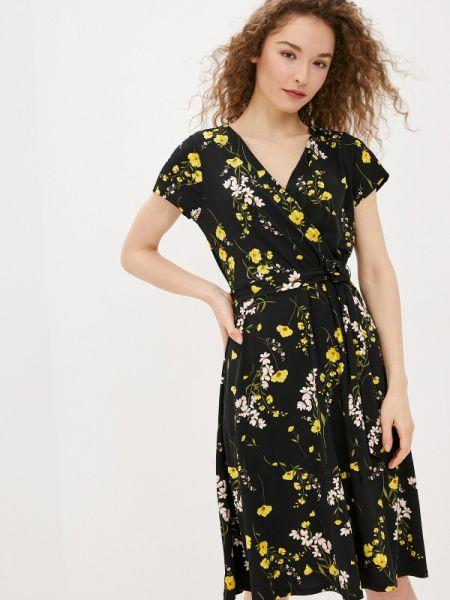 Платье с запахом черное Wallis