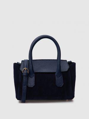 Замшевая сумка - синяя Gianni Notaro