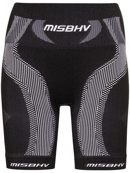 Czarne krótkie szorty z wysokim stanem Misbhv