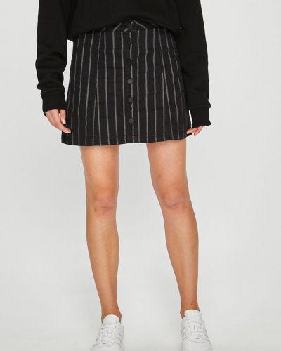 Черная плиссированная юбка карандаш с поясом Review