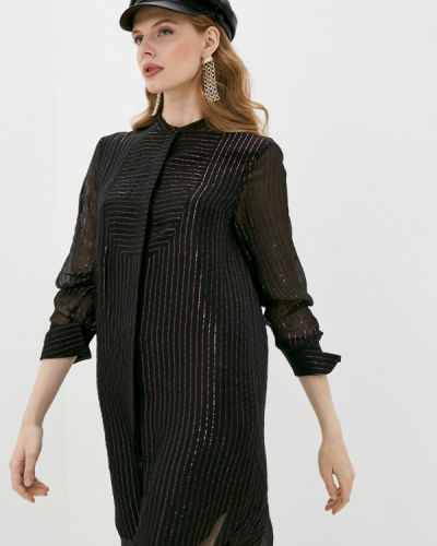 Черное платье-рубашка The Kooples