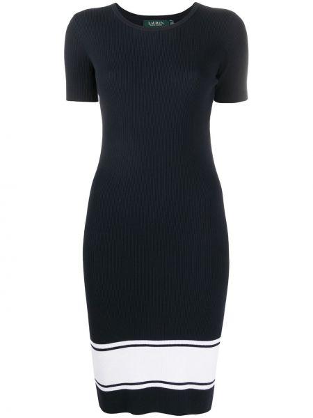 Приталенное вязаное платье круглое с нашивками Lauren Ralph Lauren