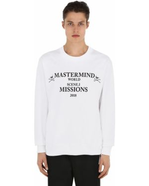 Prążkowana biała bluza bawełniana Mastermind World