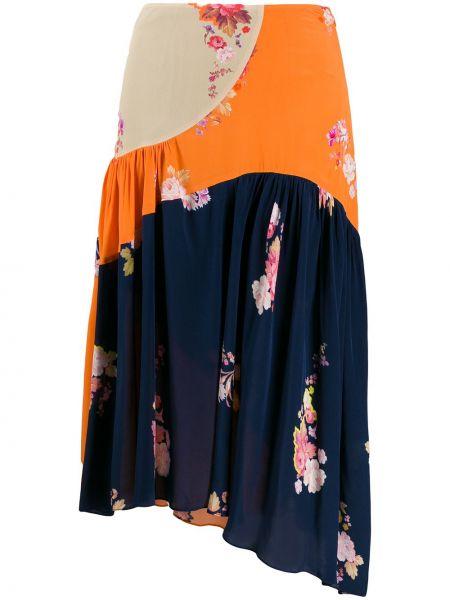 Плиссированная юбка круглая Preen Line