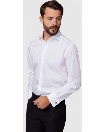 Классическая рубашка с длинным рукавом с манжетами под запонки канцлер