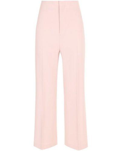 Укороченные брюки розовый со стрелками Alice + Olivia