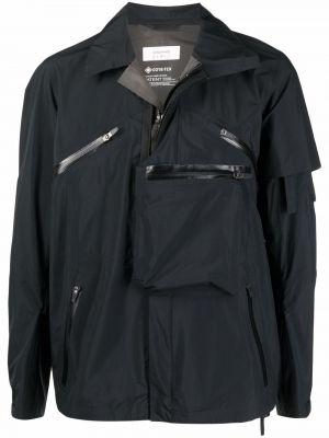 Czarna kurtka ze stójką materiałowa Acronym