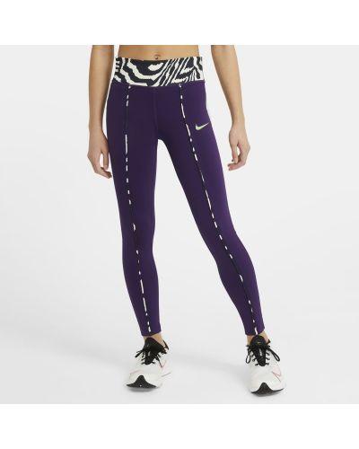 Fioletowe legginsy z printem Nike