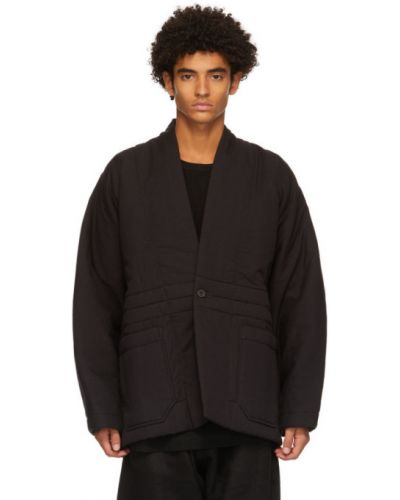Ciepła czarna kurtka wełniana Jan-jan Van Essche