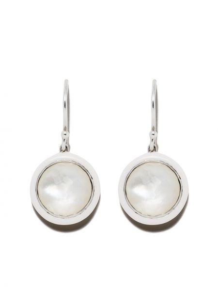 Белые серебряные серьги с подвесками на крючках Ippolita
