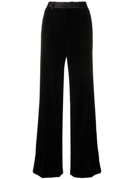 Расклешенные черные брюки с поясом Paul Smith