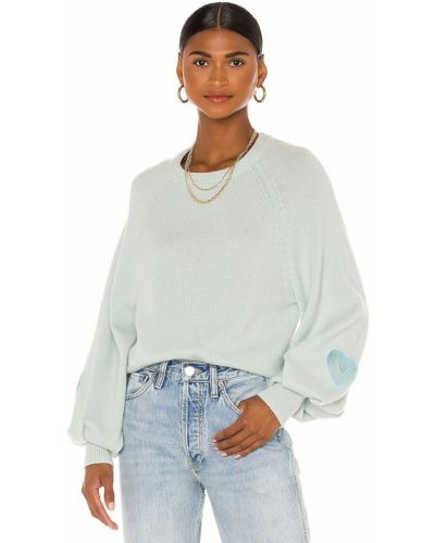 Шерстяной пуловер мятный Loveshackfancy