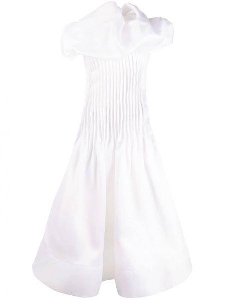 Платье с открытой спиной плиссированное Nina Ricci