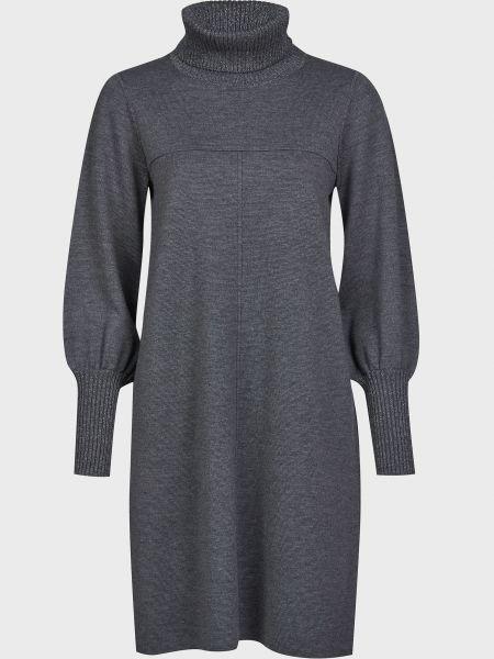 Шерстяное серое платье Luisa Spagnoli