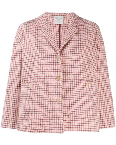 Розовая длинная куртка Forte Forte