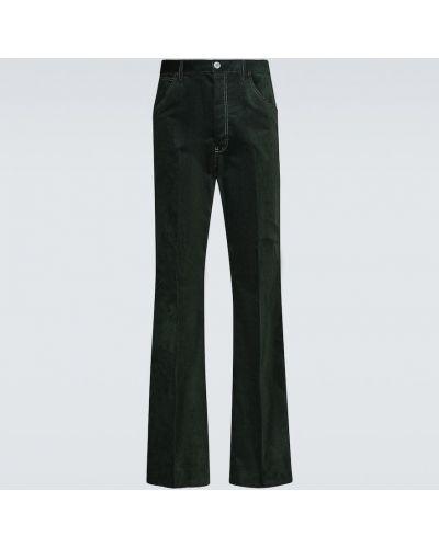 Spodnie sztruksowe - zielone Acne Studios