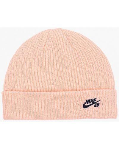 Розовая шапка осенняя Nike