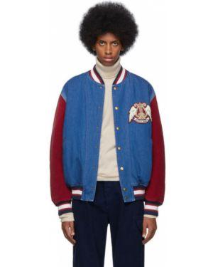 Джинсовая куртка длинная стеганая Gucci