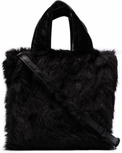 Кожаная сумка - черная Stand Studio