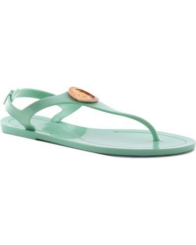 Силиконовые сандалии - зеленые Versace