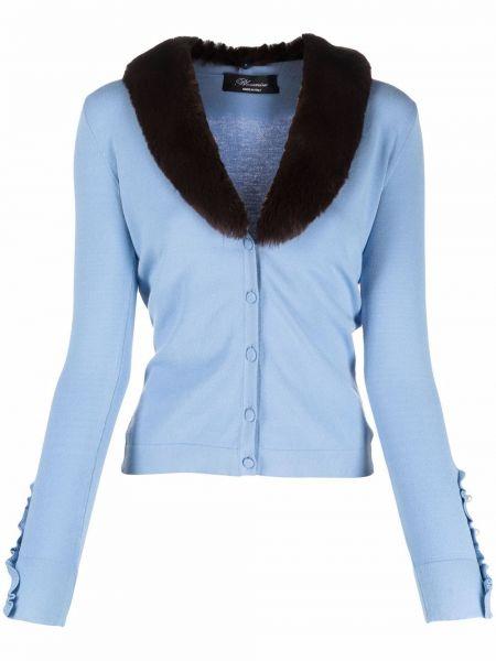 Синяя кофта с V-образным вырезом Blumarine
