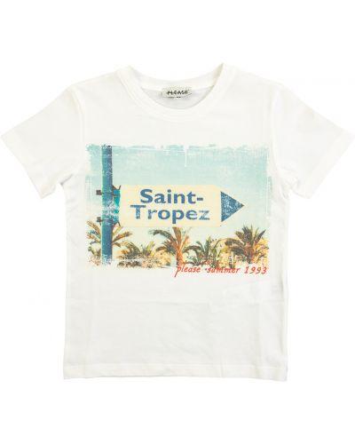 T-shirt - biała Please
