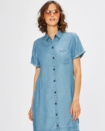 Платье мини с карманами однотонное Lee