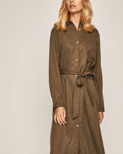 Платье миди с поясом однотонное Medicine