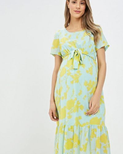 Платье для беременных индийский зеленый Mama.licious