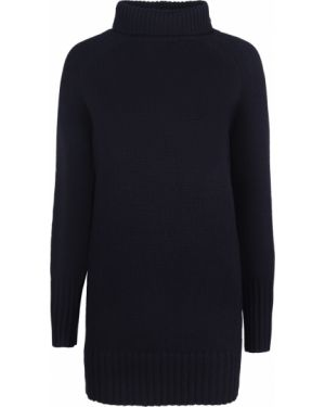 С рукавами шерстяной синий свитер с воротником Vanessa Bruno