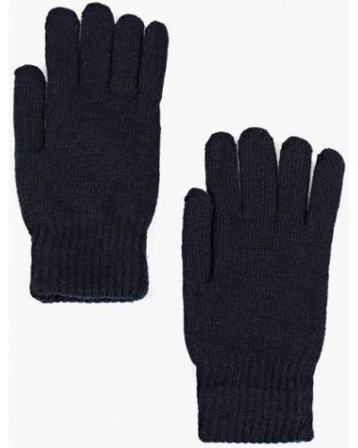 Синие перчатки текстильные Modis