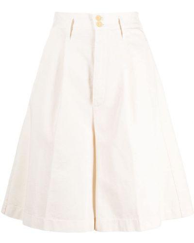 Белые с завышенной талией шорты с карманами Forte Forte