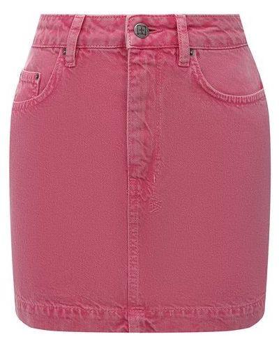 Джинсовая юбка - розовая Ksubi